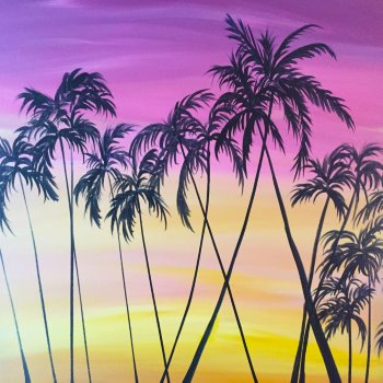 Canvas Painting Class on 08/31 at Muse Paintbar Portland