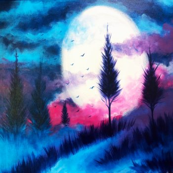 Canvas Painting Class on 08/21 at Muse Paintbar Manchester