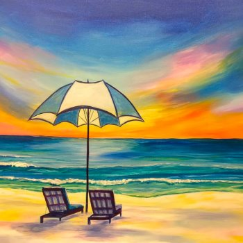 Canvas Painting Class on 06/12 at Muse Paintbar Norwalk