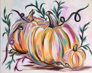 Canvas Painting Class on 11/24 at Muse Paintbar Lynnfield
