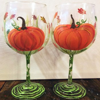 Glassware Painting Event on 10/23 at Muse Paintbar Patriot Place