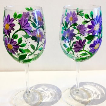 Glassware Painting Event on 08/08 at Muse Paintbar Portland