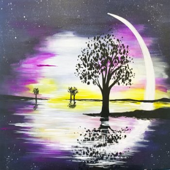 Canvas Painting Class on 01/18 at Muse Paintbar Patriot Place