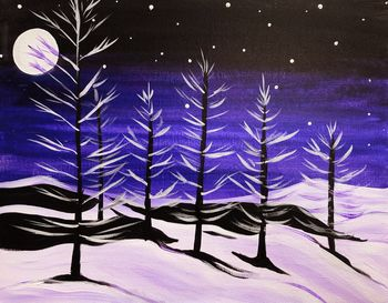 Canvas Painting Class on 01/24 at Muse Paintbar Port Jefferson
