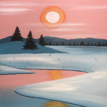 Canvas Painting Class on 01/25 at Muse Paintbar Gaithersburg