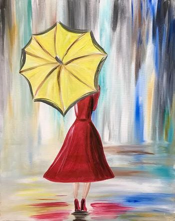 Canvas Painting Class on 02/06 at Muse Paintbar Lynnfield