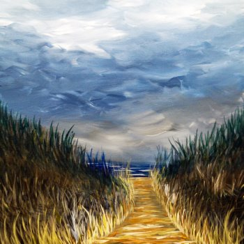Canvas Painting Class on 10/16 at Muse Paintbar Lynnfield