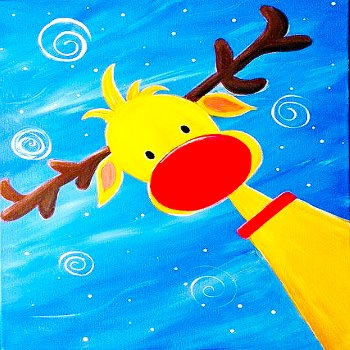Kids Painting Class on 12/22 at Muse Paintbar Patriot Place