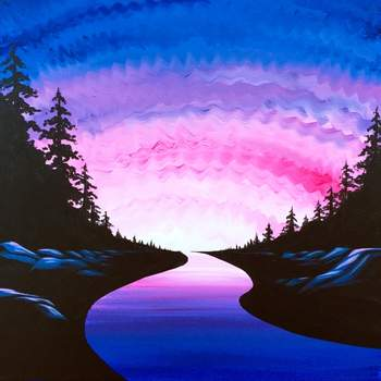 Canvas Painting Class on 04/18 at Muse Paintbar Gaithersburg