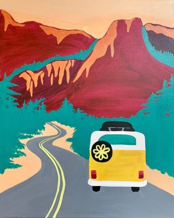 Canvas Painting Class on 02/20 at Muse Paintbar Patriot Place