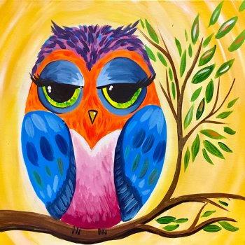 Canvas Painting Class on 08/18 at Muse Paintbar Portland