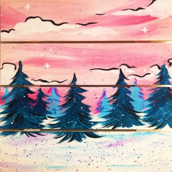 Wooden Sign Painting on 01/26 at Muse Paintbar Lynnfield