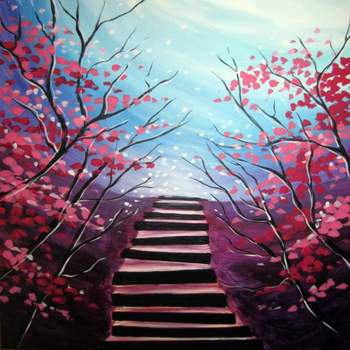 Canvas Painting Class on 02/28 at Muse Paintbar Patriot Place