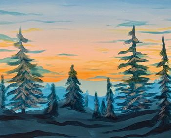 Canvas Painting Class on 11/30 at Muse Paintbar Milford
