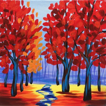 Canvas Painting Class on 10/05 at Muse Paintbar Gaithersburg