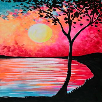 Canvas Painting Class on 02/02 at Muse Paintbar Woodbury