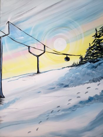 Canvas Painting Class on 02/23 at Muse Paintbar Patriot Place