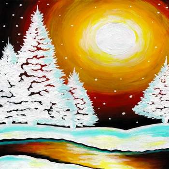 Canvas Painting Class on 12/28 at Muse Paintbar Fairfax (Mosaic)