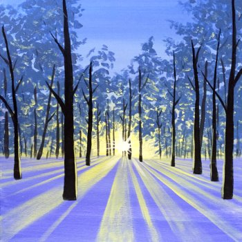 Canvas Painting Class on 12/07 at Muse Paintbar Lynnfield