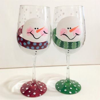 Glassware Painting Event on 12/18 at Muse Paintbar Charlottesville