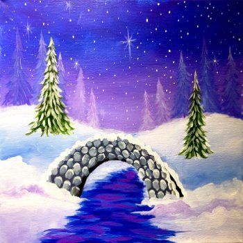 Canvas Painting Class on 02/03 at Muse Paintbar West Hartford