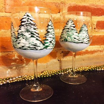 Glassware Painting Event on 01/31 at Muse Paintbar Woodbridge
