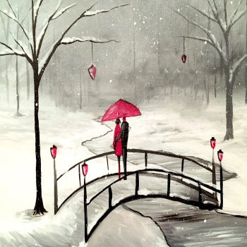 Canvas Painting Class on 02/12 at Muse Paintbar West Hartford