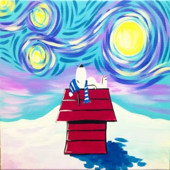 Canvas Painting Class on 01/12 at Muse Paintbar Patriot Place
