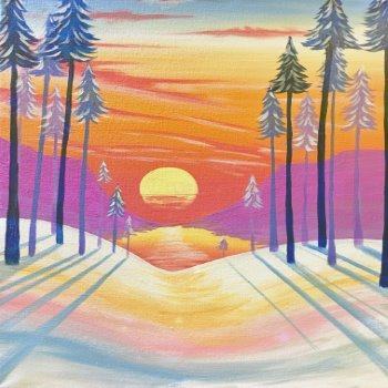 Canvas Painting Class on 02/27 at Muse Paintbar Woodbury