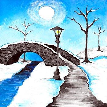 Snowy Walk - Muse Paintbar