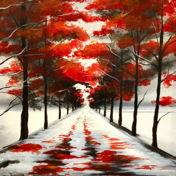 Canvas Painting Class on 02/13 at Muse Paintbar West Hartford