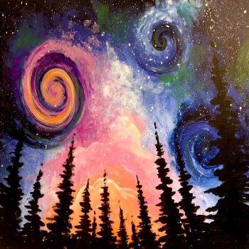 Canvas Painting Class on 10/23 at Muse Paintbar Patriot Place