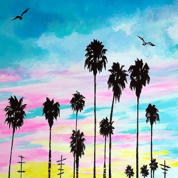 Canvas Painting Class on 06/09 at Muse Paintbar Gainesville