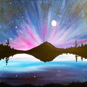 Canvas Painting Class on 05/31 at Muse Paintbar Patriot Place