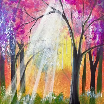 Canvas Painting Class on 04/01 at Muse Paintbar Portland