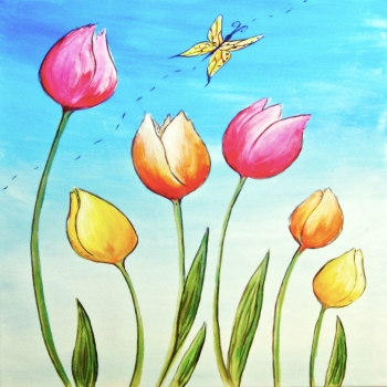 Canvas Painting Class on 03/31 at Muse Paintbar Providence