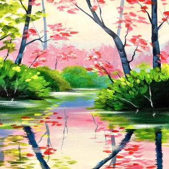 Canvas Painting Class on 05/19 at Muse Paintbar Ridge Hill
