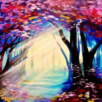 Canvas Painting Class on 03/08 at Muse Paintbar Fairfax (Mosaic)