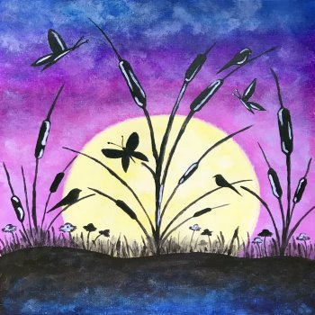 Canvas Painting Class on 07/21 at Muse Paintbar Portland