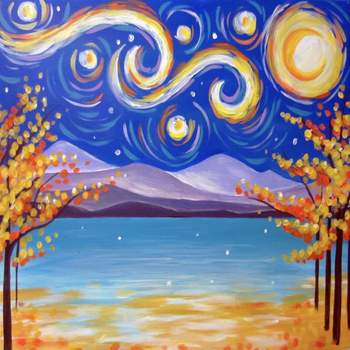 Canvas Painting Class on 11/12 at Muse Paintbar Lynnfield