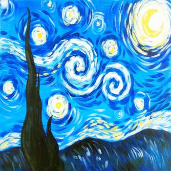 Canvas Painting Class on 06/17 at Muse Paintbar Ridge Hill