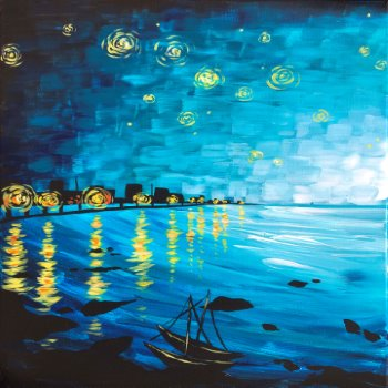 Canvas Painting Class on 05/30 at Muse Paintbar Glastonbury
