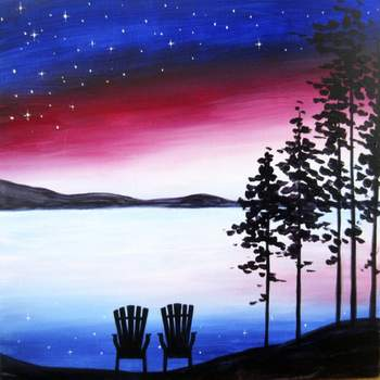 Canvas Painting Class on 04/06 at Muse Paintbar Portland