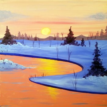 Canvas Painting Class on 01/14 at Muse Paintbar Manchester
