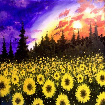 Canvas Painting Class on 09/13 at Muse Paintbar Manchester
