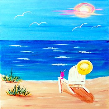 Canvas Painting Class on 07/28 at Muse Paintbar West Hartford