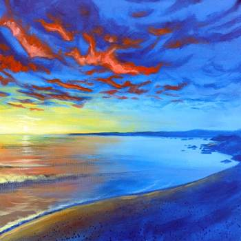 Canvas Painting Class on 07/06 at Muse Paintbar Patriot Place