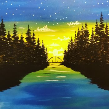 Canvas Painting Class on 04/17 at Muse Paintbar Gaithersburg
