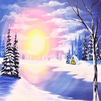 Canvas Painting Class on 02/25 at Muse Paintbar Patriot Place