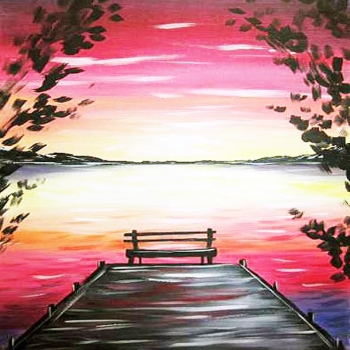 Canvas Painting Class on 02/23 at Muse Paintbar Hingham Shipyard